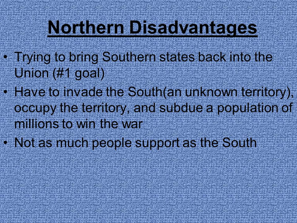 Northern Disadvantages