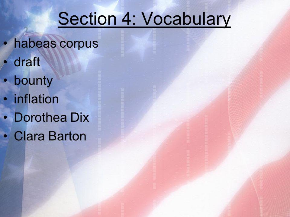 Section 4: Vocabulary habeas corpus draft bounty inflation