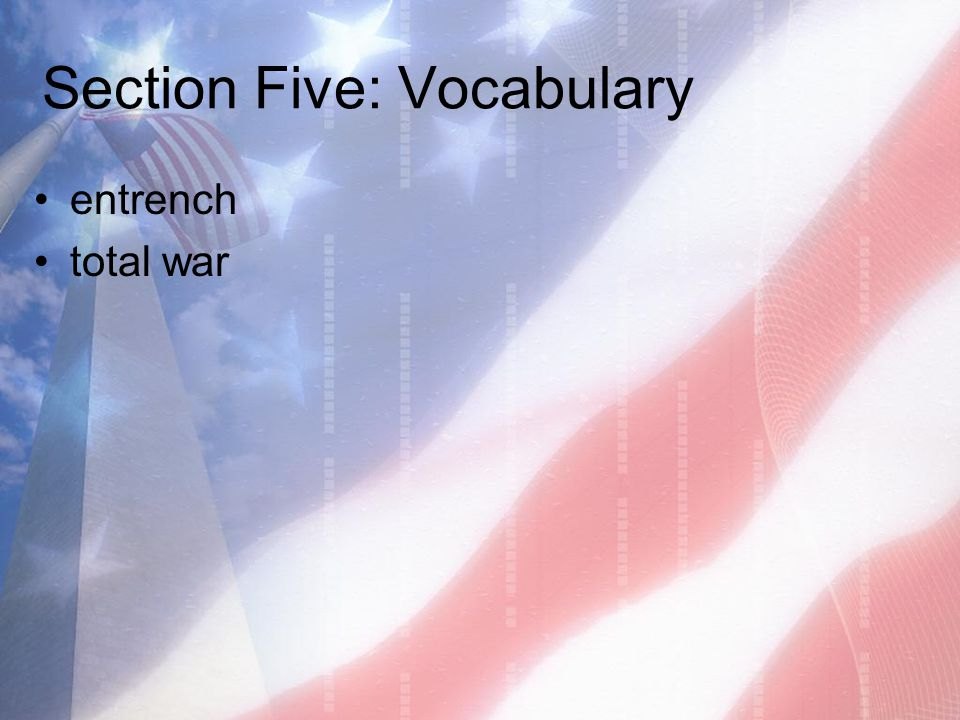 Section Five: Vocabulary