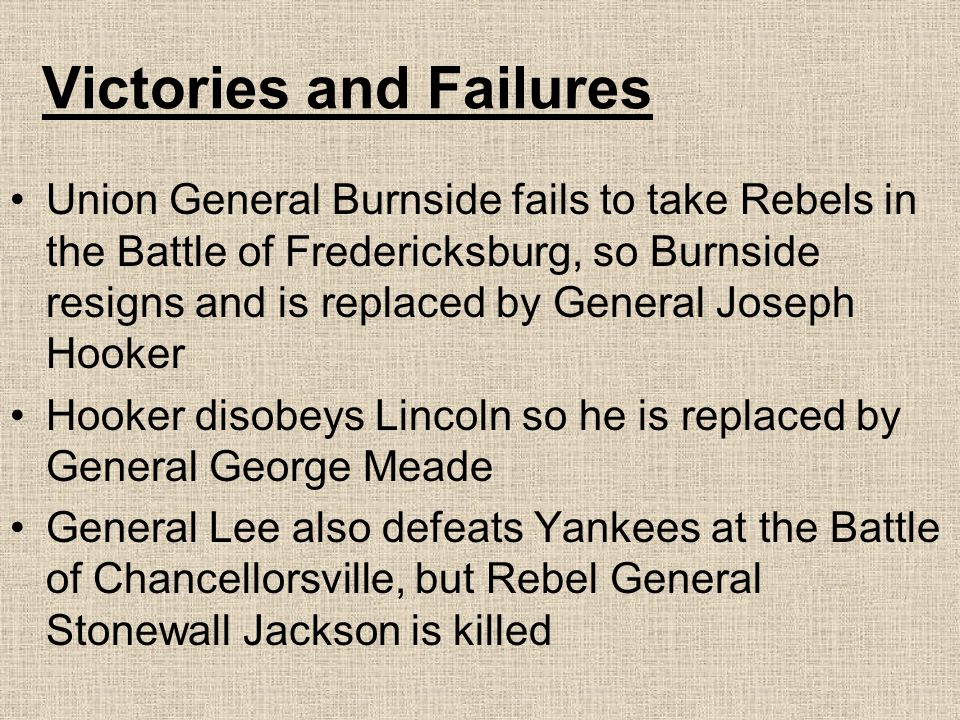 Victories and Failures