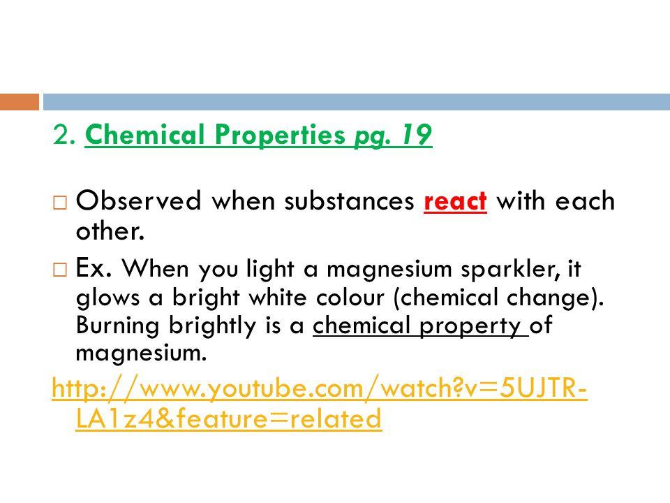 2. Chemical Properties pg. 19