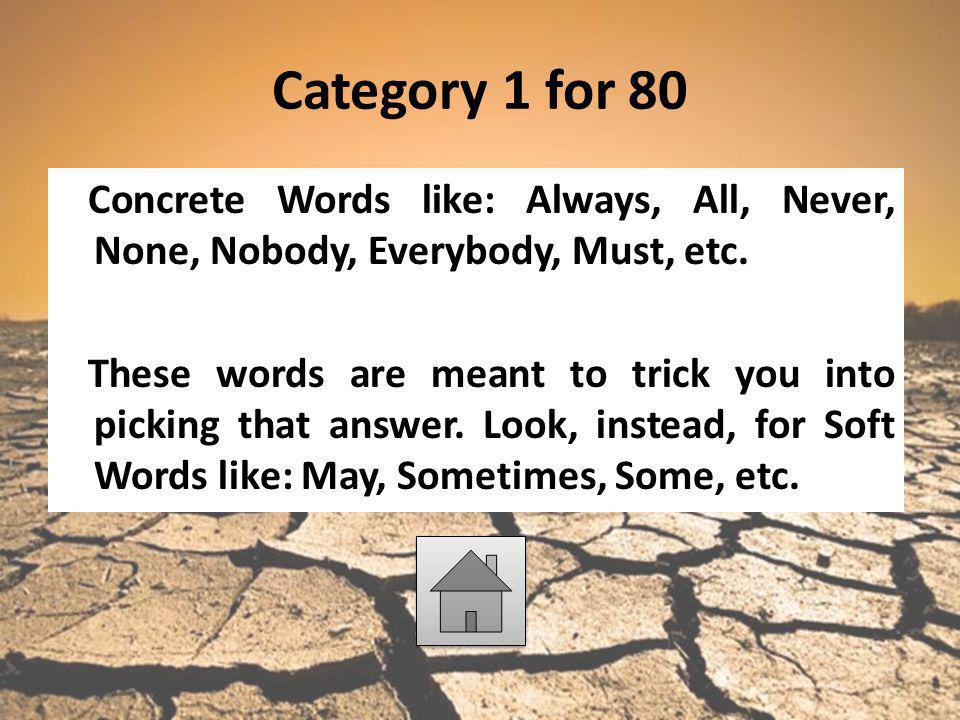 Category 1 for 80