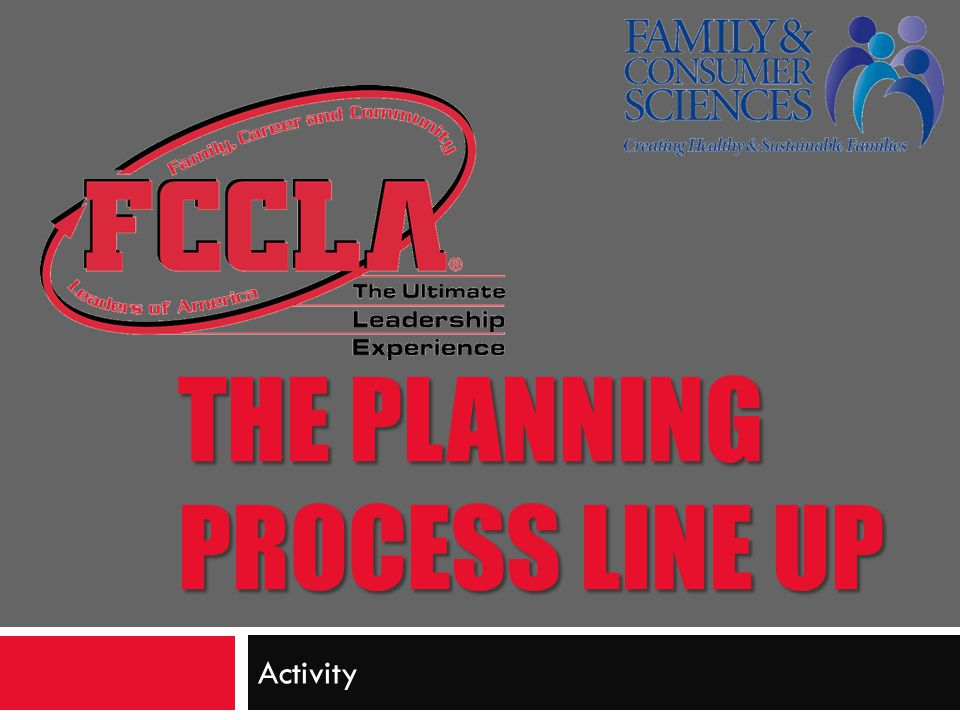 The Planning Process Line Up