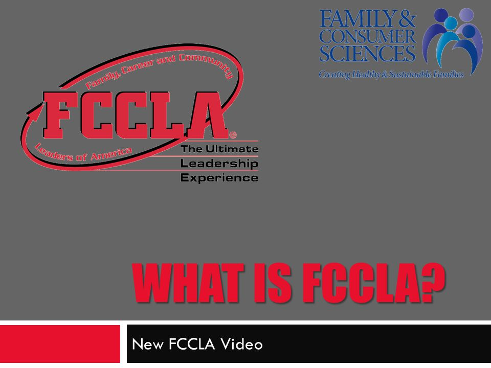 What is FCCLA New FCCLA Video