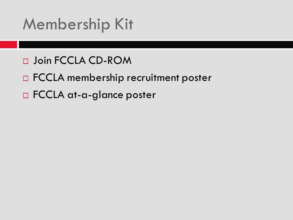 Membership Kit Join FCCLA CD-ROM FCCLA membership recruitment poster