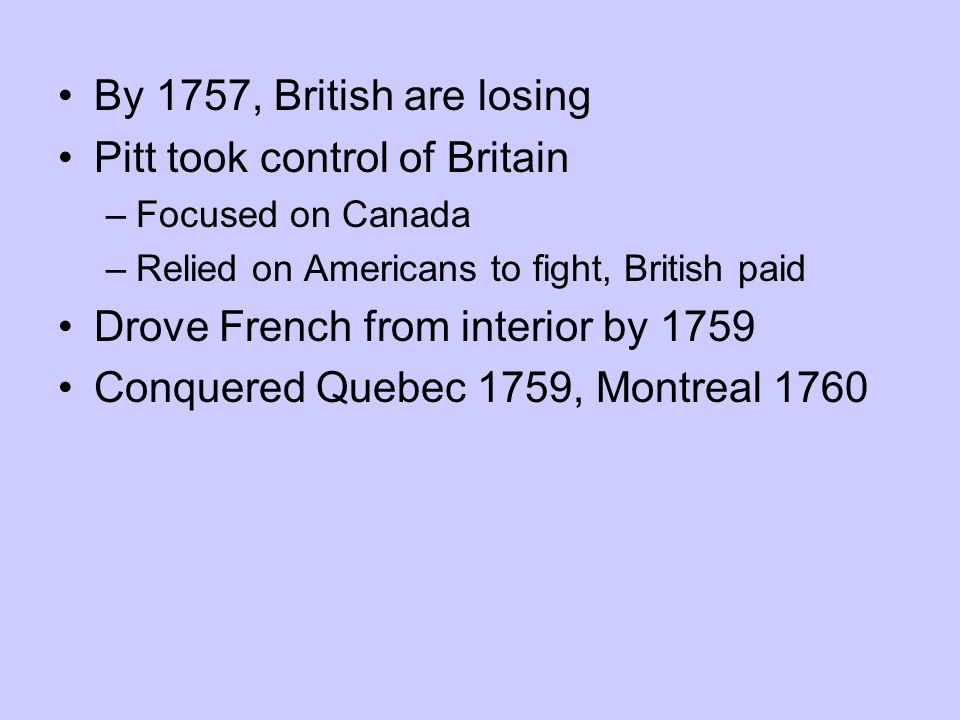 Pitt took control of Britain