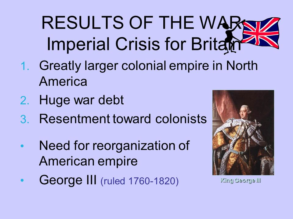 RESULTS OF THE WAR: Imperial Crisis for Britain