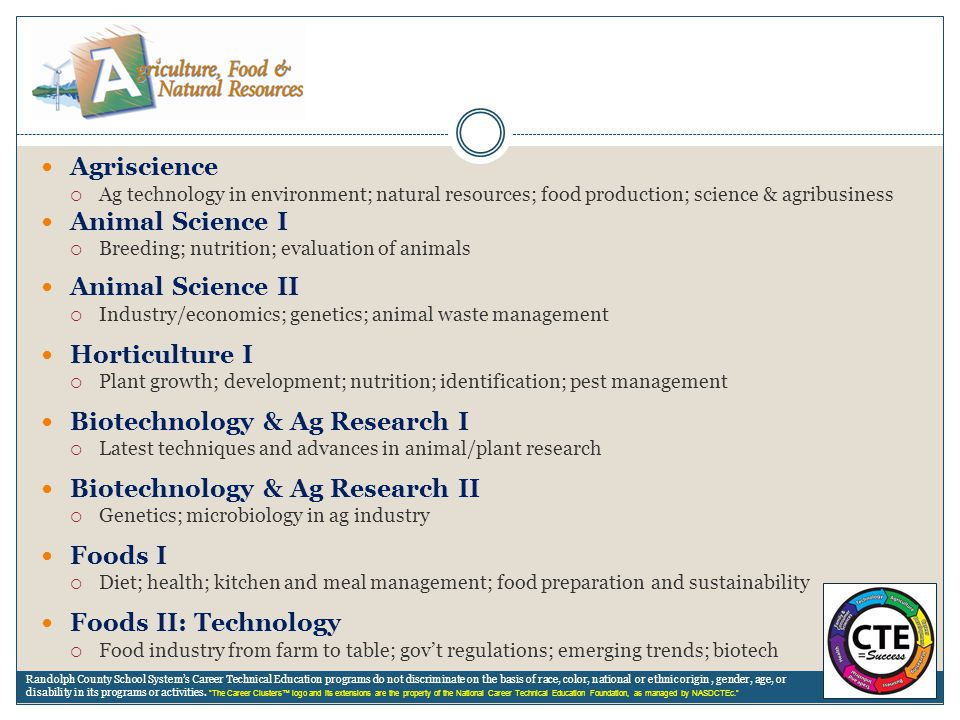 Biotechnology & Ag Research I Biotechnology & Ag Research II Foods I