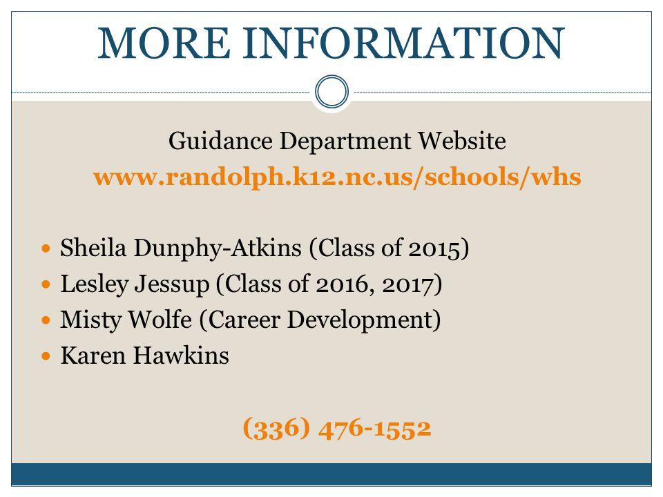 Guidance Department Website