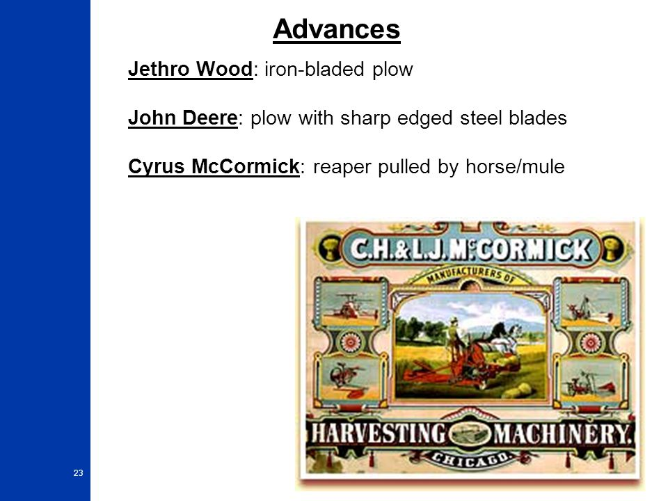 Advances Jethro Wood: iron-bladed plow