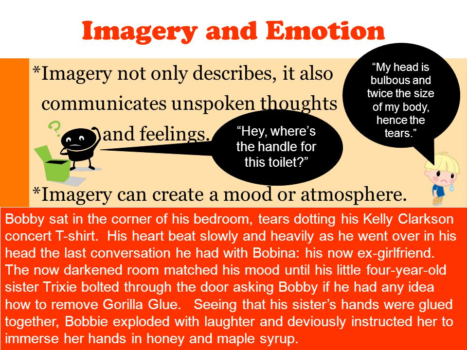 Imagery and Emotion *Imagery not only describes, it also