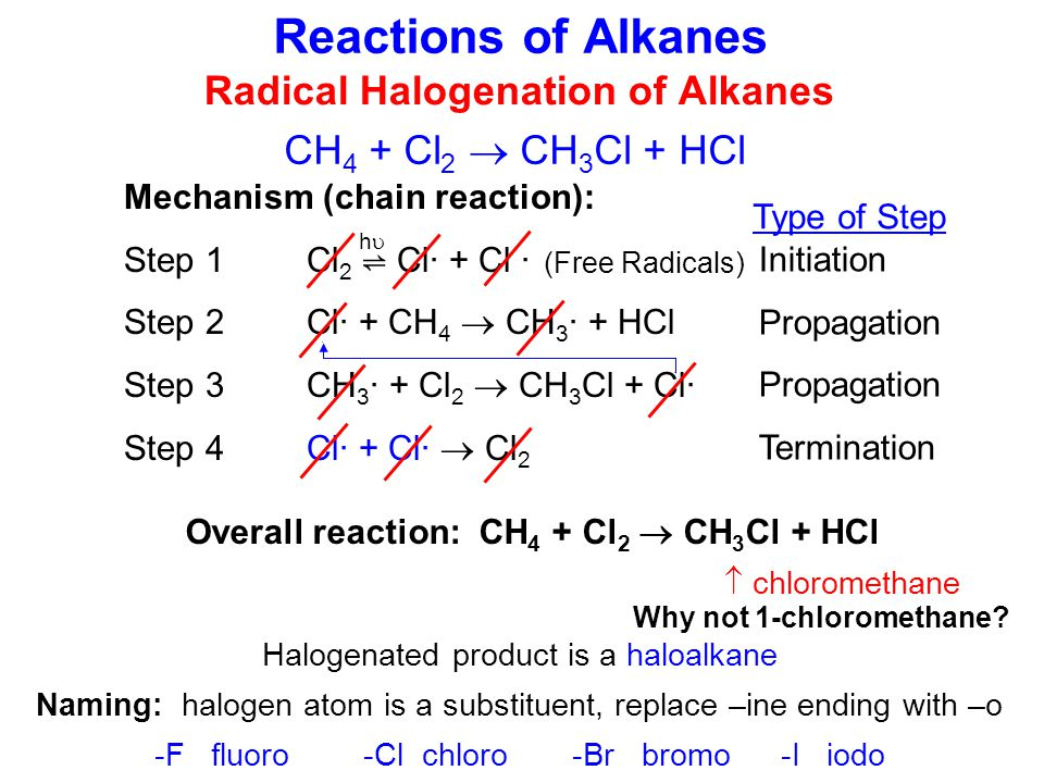 Radical Halogenation of Alkanes