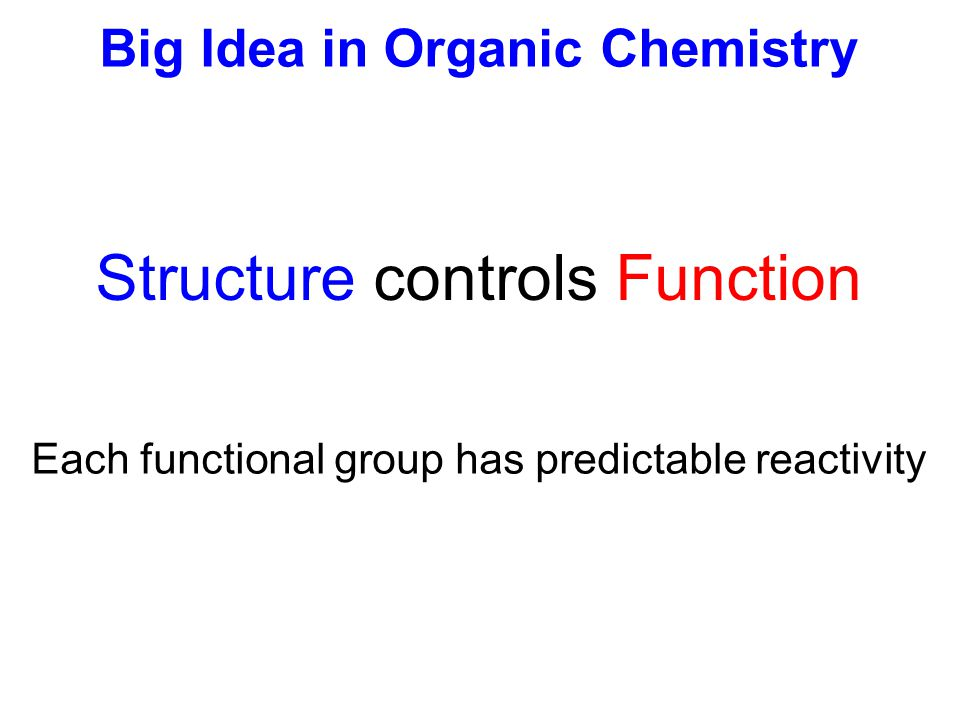 Big Idea in Organic Chemistry