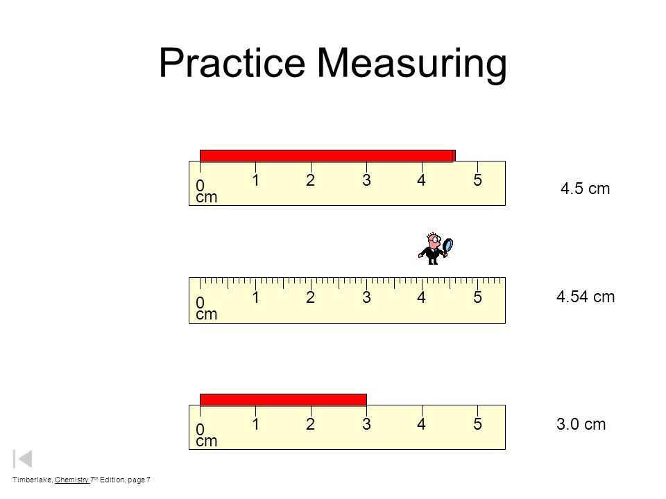 Practice Measuring cm 1 2 3 4 5 4.5 cm cm 1 2 3 4 5 4.54 cm cm 1 2 3 4