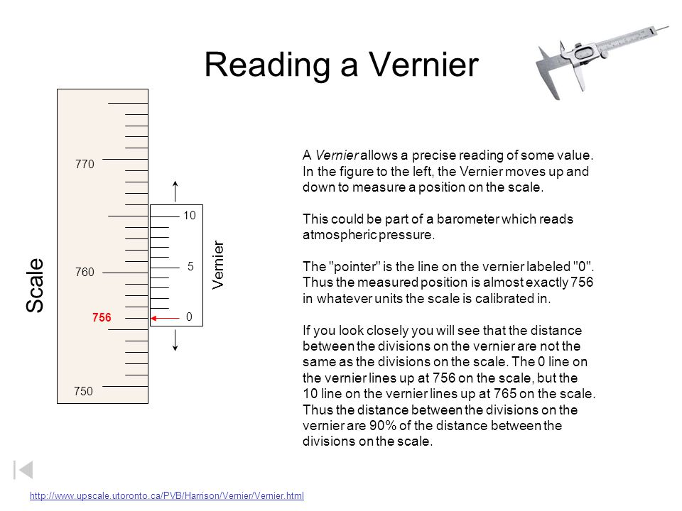 Reading a Vernier Scale Vernier
