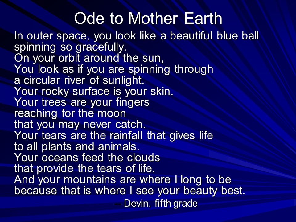 Ode to Mother Earth