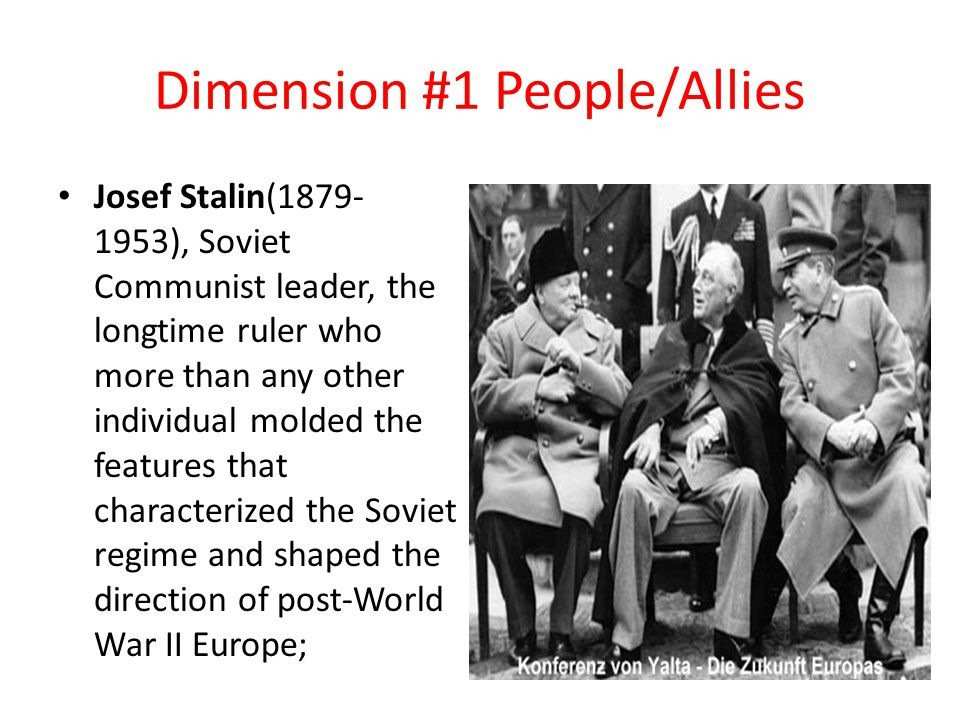 Dimension #1 People/Allies