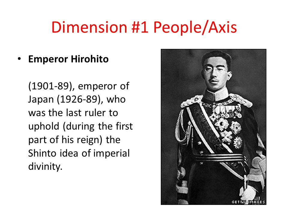 Dimension #1 People/Axis