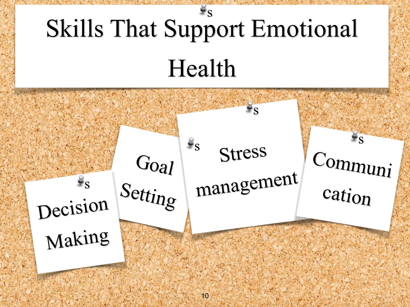 Skills That Support Emotional Health