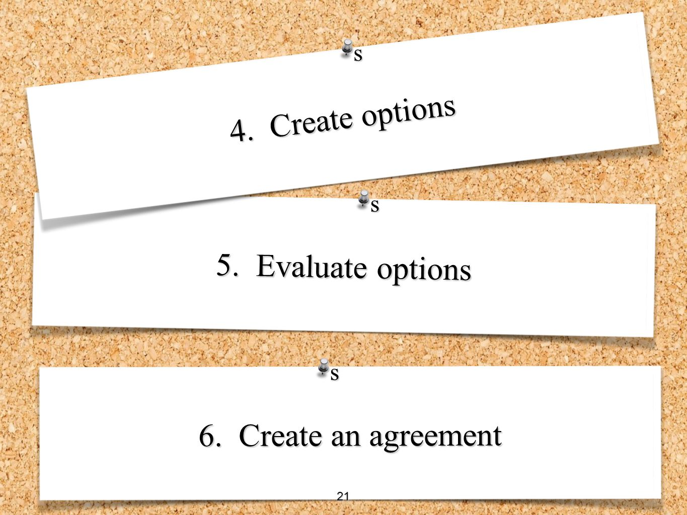 s 4. Create options s 5. Evaluate options s 6. Create an agreement 21