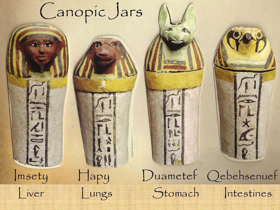 Canopic Jars Imsety Hapy Duametef Qebehsenuef
