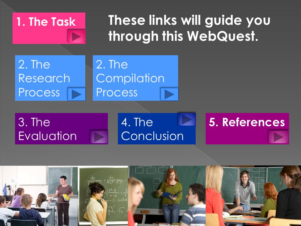 These links will guide you through this WebQuest.