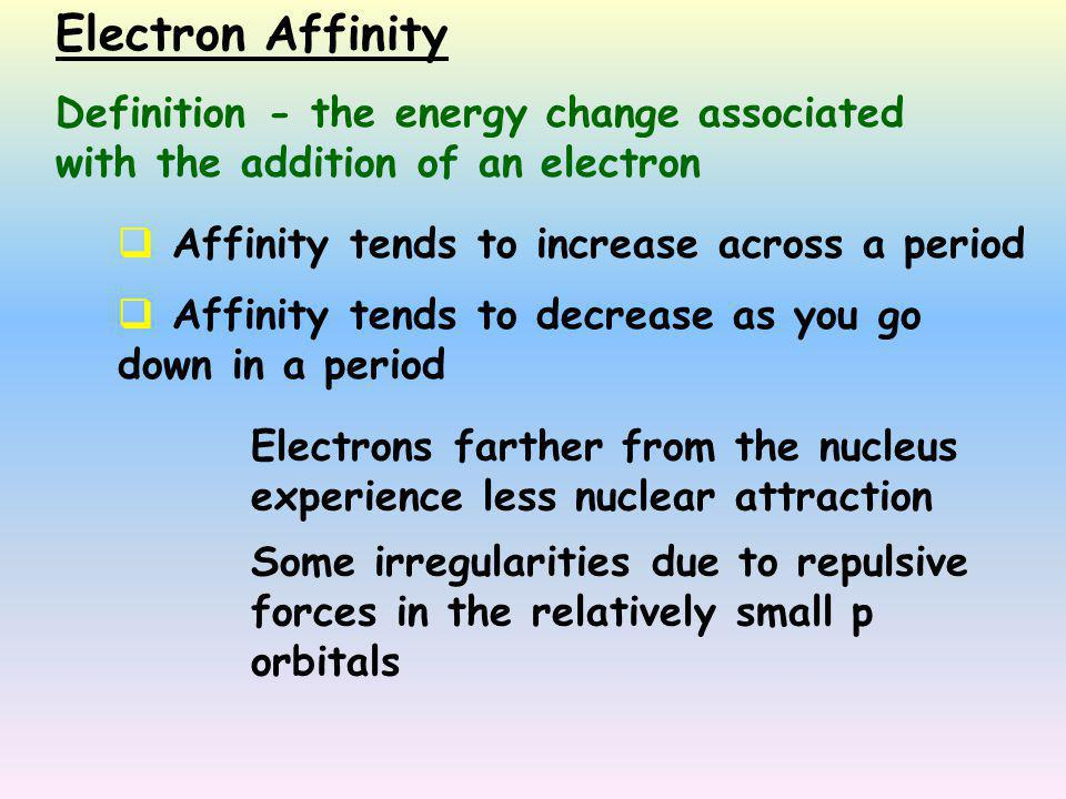 periodic trends across the period 3 Period (periodic table) in the periodic table of the elements, each numbered row is a period modern quantum mechanics explains these periodic trends in properties in terms of electron.