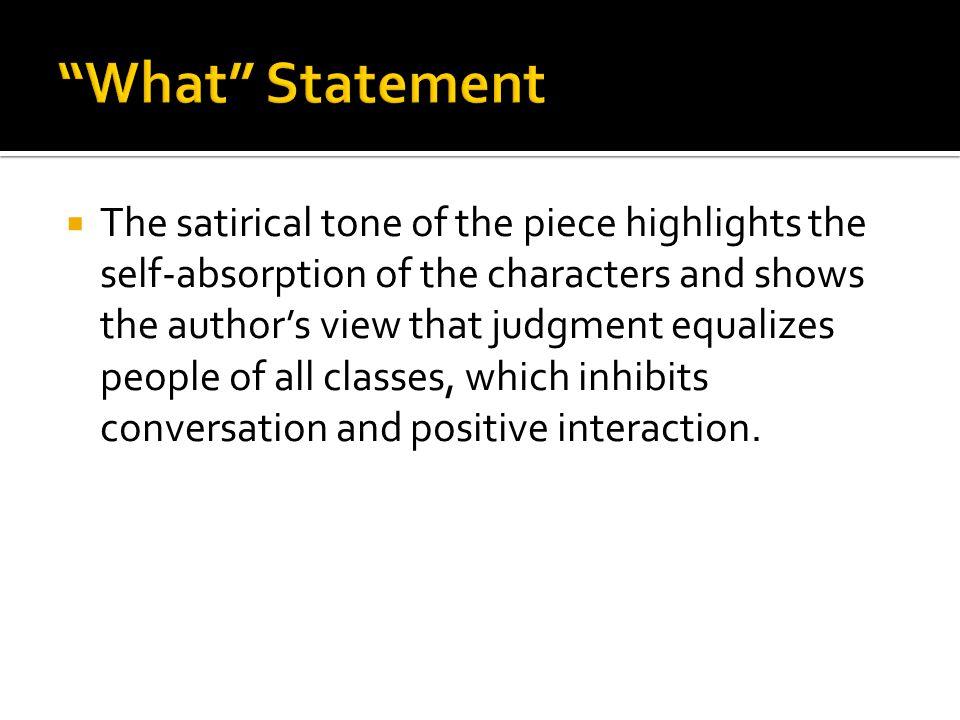 What Statement