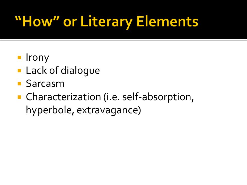 How or Literary Elements
