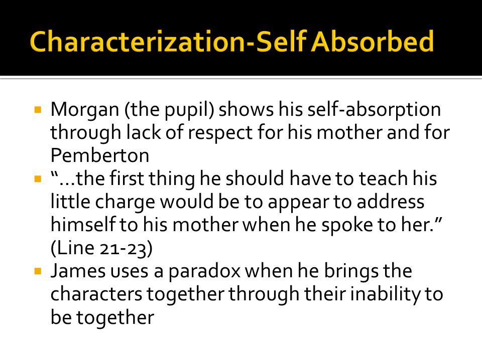 Characterization-Self Absorbed