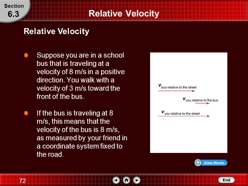 Relative Velocity 6.3 Relative Velocity