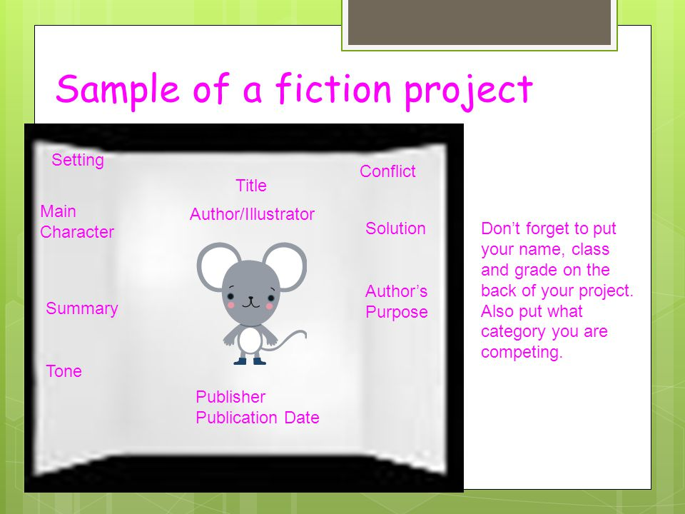 Sample of a fiction project