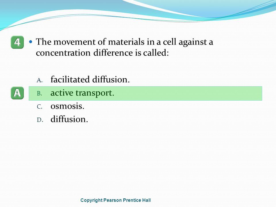 facilitated diffusion. active transport. osmosis. diffusion.