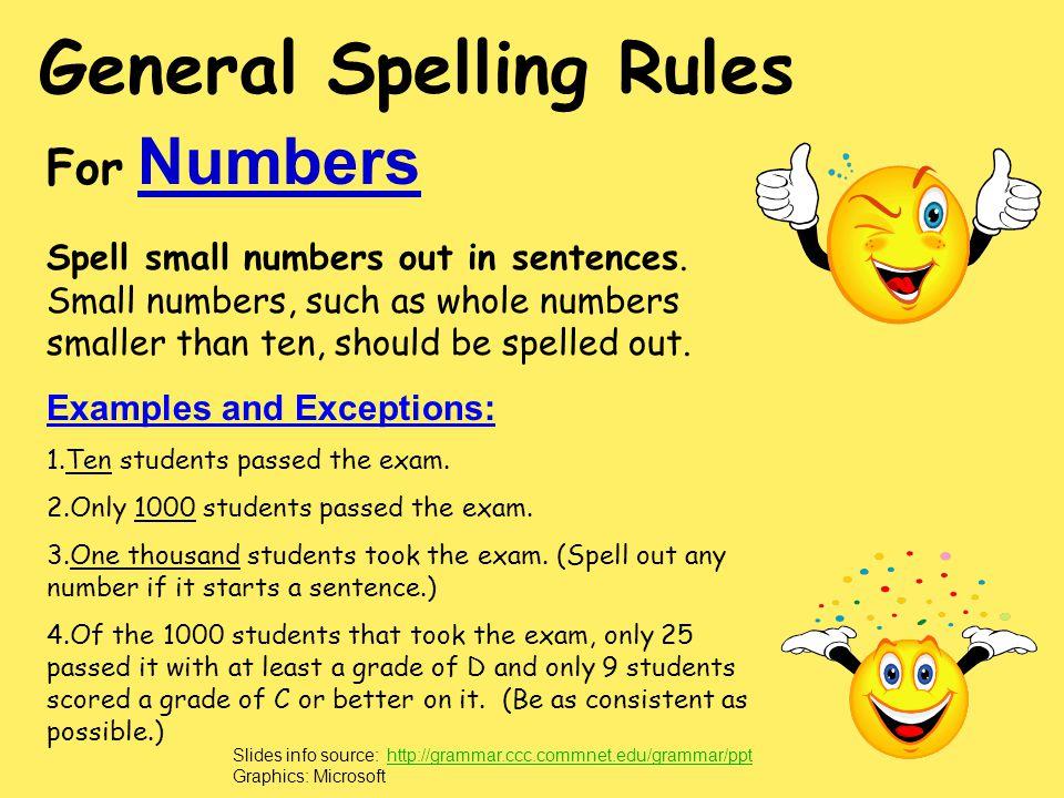General Spelling Rules