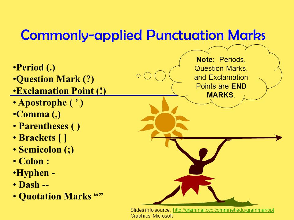Commonly-applied Punctuation Marks