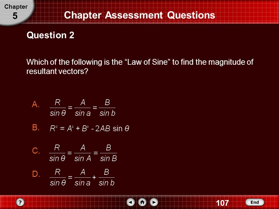 Chapter Assessment Questions