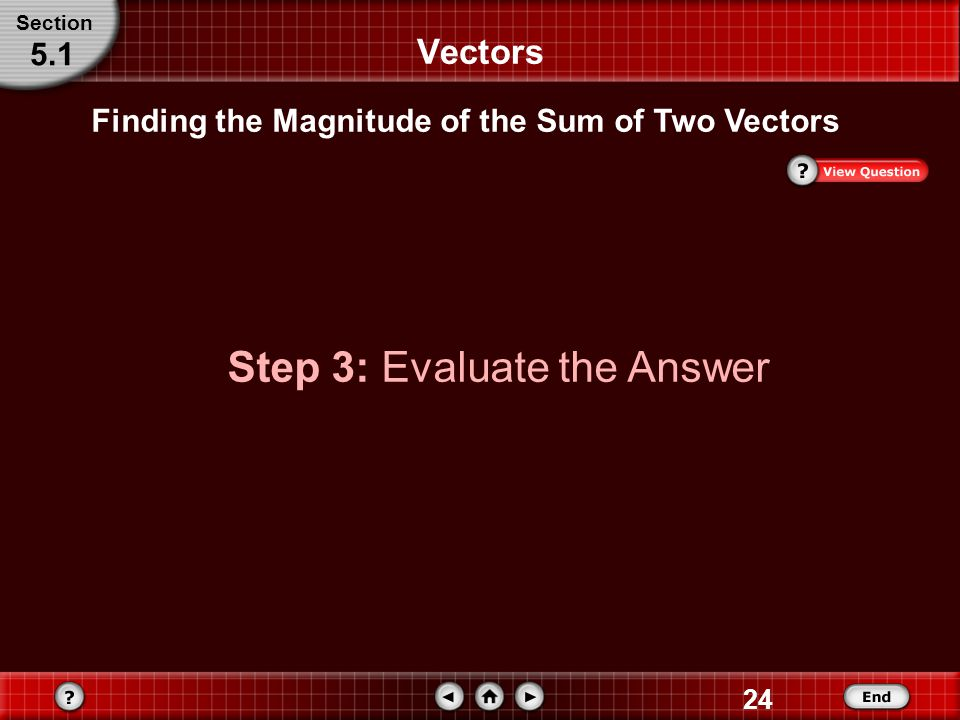 Step 3: Evaluate the Answer