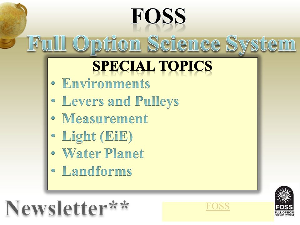 Full Option Science System