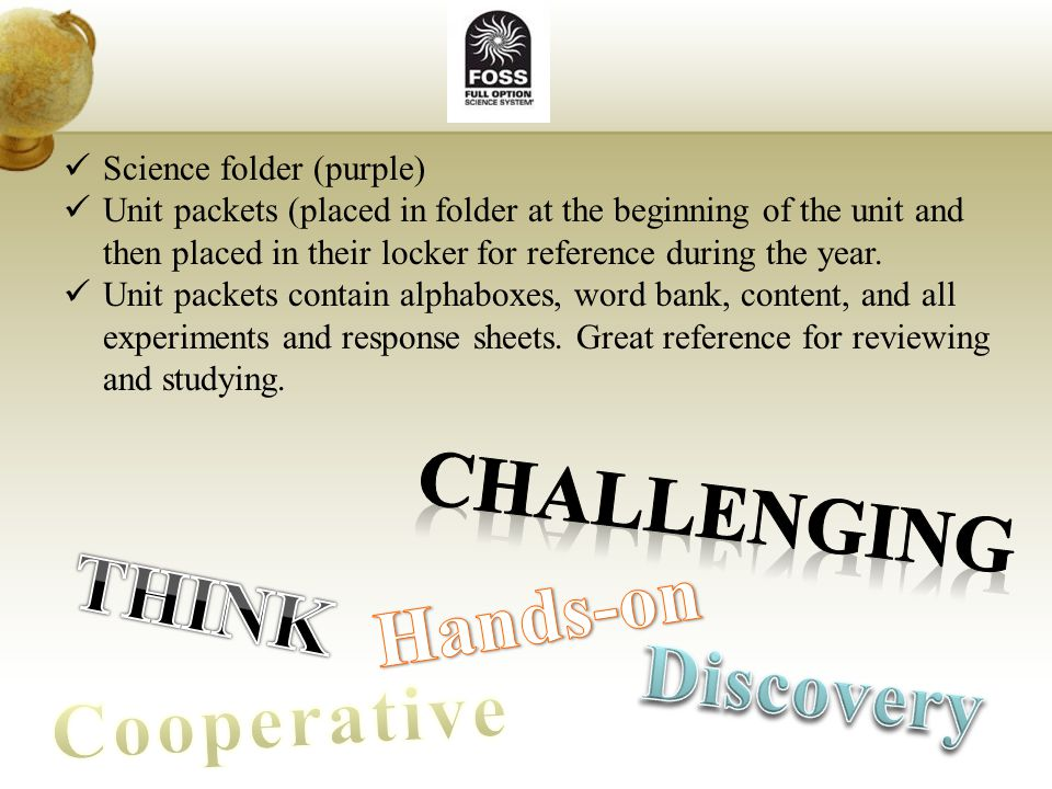 challenging THINK Hands-on Discovery Cooperative