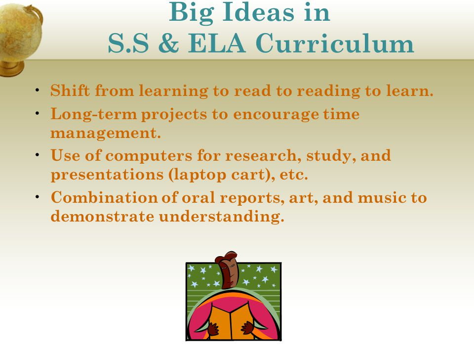 Big Ideas in S.S & ELA Curriculum