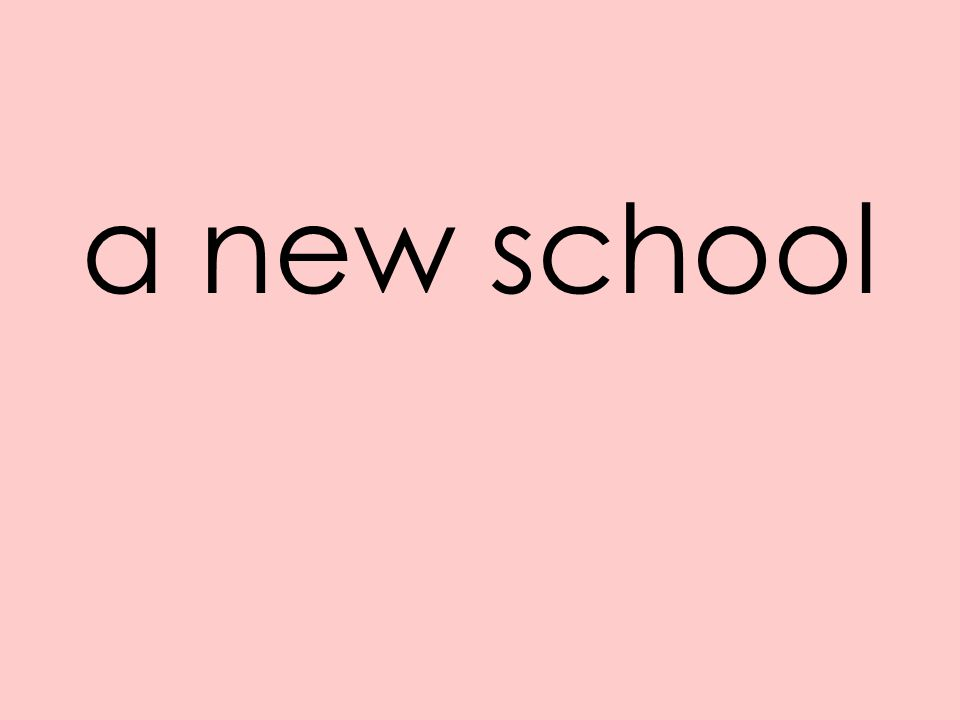 a new school