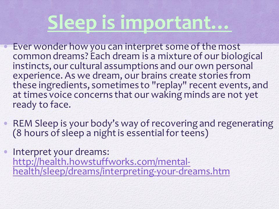 Sleep is important…