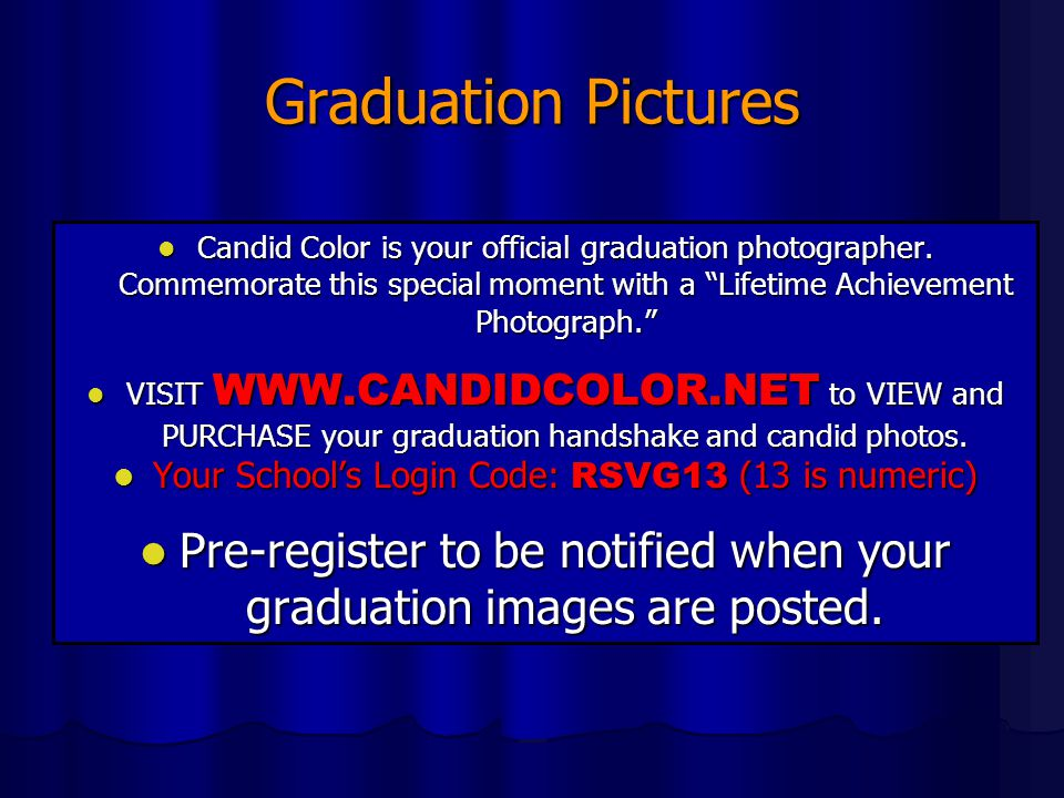 Graduation Pictures Candid Color is your official graduation photographer. Commemorate this special moment with a Lifetime Achievement Photograph.