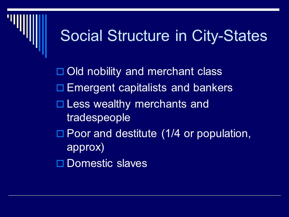 Social Structure in City-States