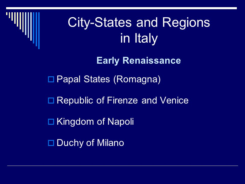City-States and Regions in Italy