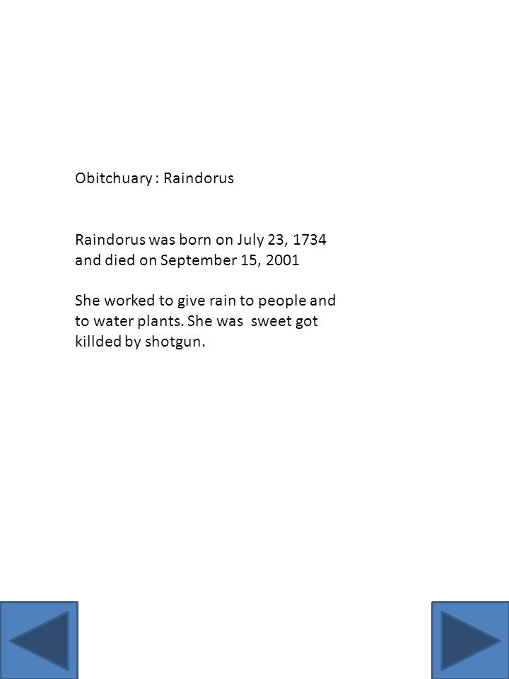 Obitchuary : Raindorus