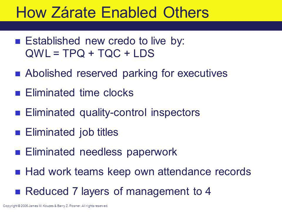 How Zárate Enabled Others