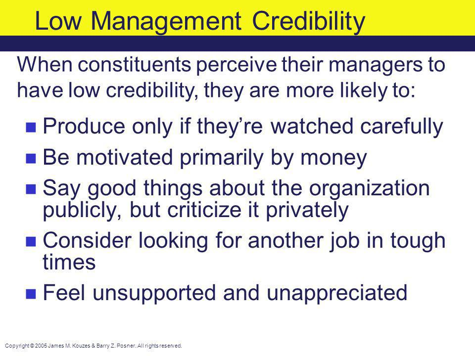 Low Management Credibility