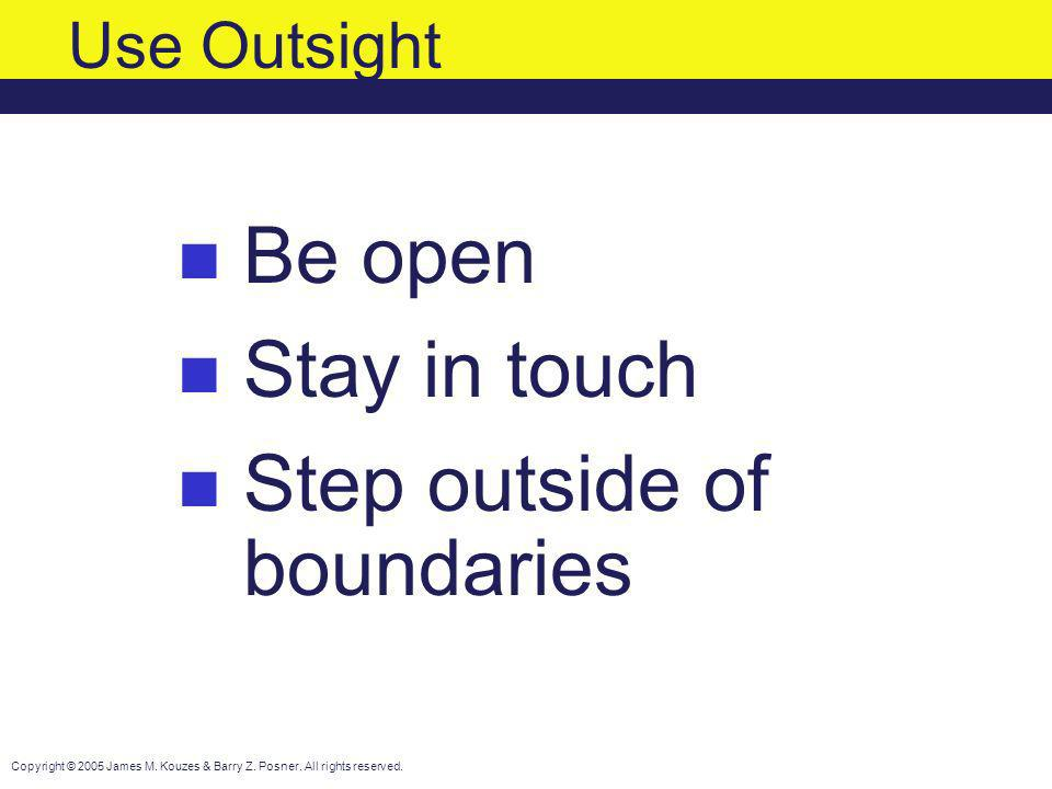Step outside of boundaries