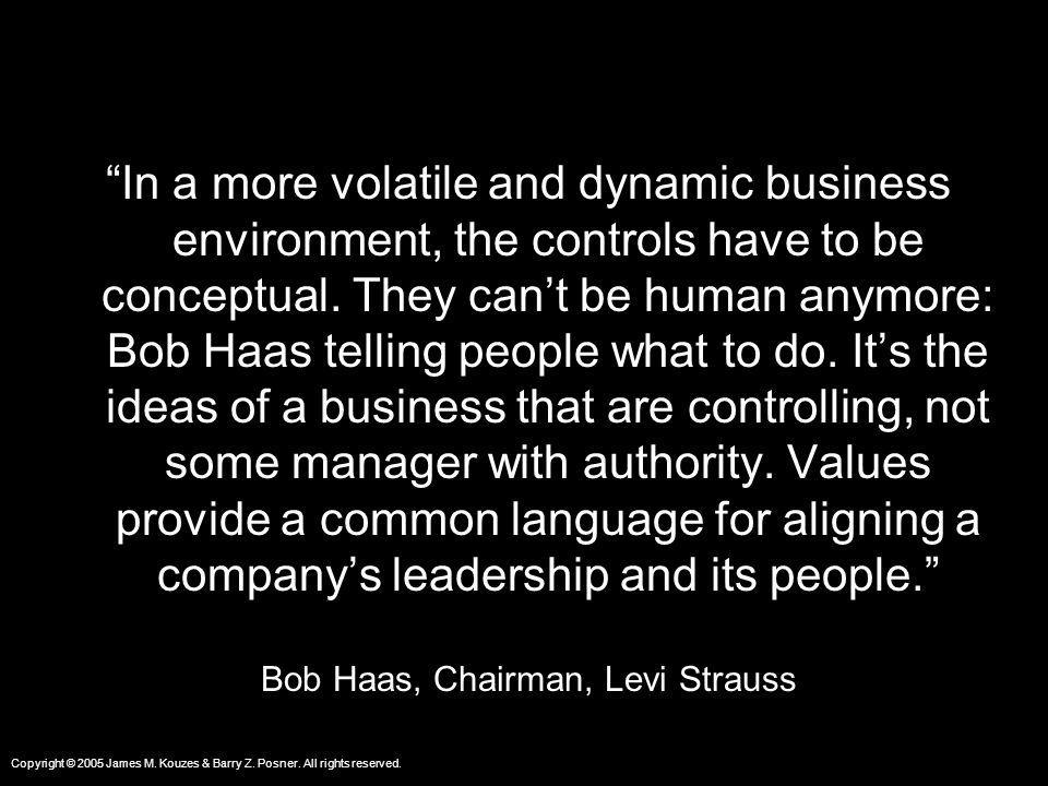 Bob Haas, Chairman, Levi Strauss